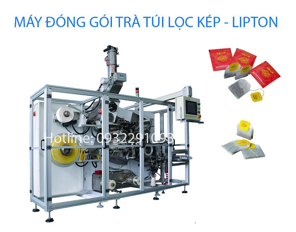 Máy đóng gói trà túi lọc kép lipton