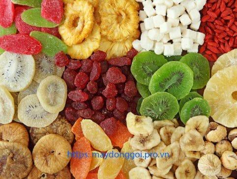 Máy đóng gói hoa quả trái cây sấy khô